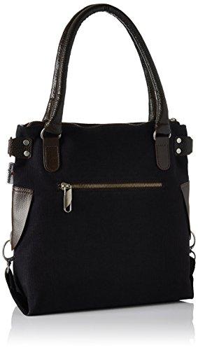 Bags4Less - Stern-mini, Borsa a tracolla Donna Schwarz (Canvas-Schwarz)