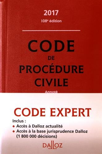 Code Dalloz Expert. Code de procdure civile 2017 - 13e d.