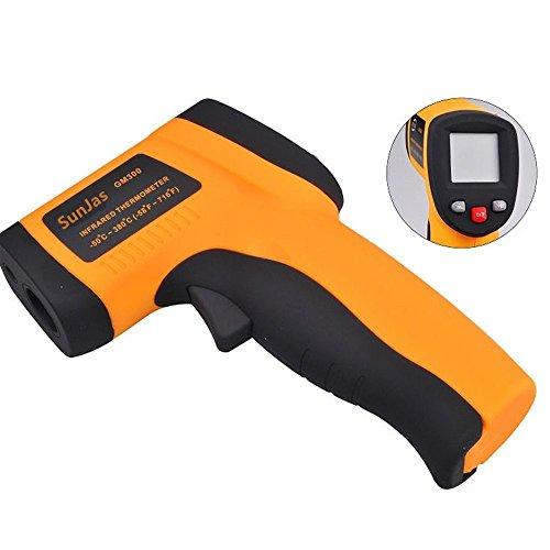 Preisvergleich Produktbild SUNJAS Infrarot Laser Temperaturmessgerät -58 bis 716°F(-50 bis 380°C) Berührungslos Thermometer Digital LCD Funk (mit Batterien)