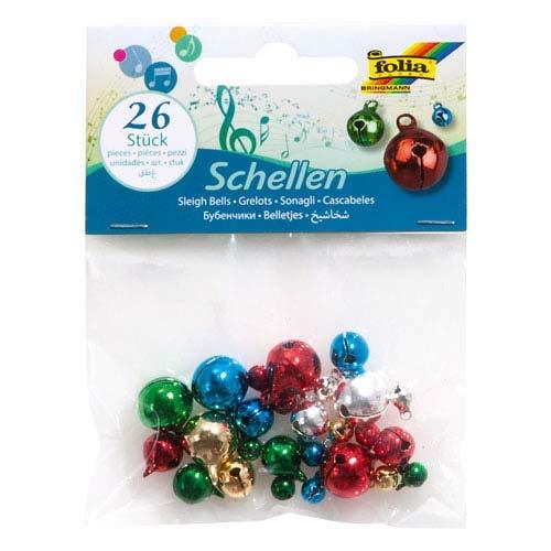 llen, Farbig Sortiert, 26 Stk. - Glöckchen Glocken Weihnachtsschmuck ()