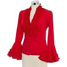 Doña Ana Camisa de Flamenca Pepa roja