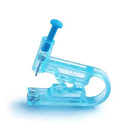 MUANI 2ST Einweg Hals Nasen Piercing Guns mit 2 Edelstahl Ohrstecker Asepsis Sicherheit Piercing Werkzeug Set