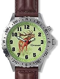 GREINER 1209-TF Reloj Pulsera Motivo Ciervo