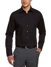 Seidensticker Herren Businesshemd Tailored Fit Langarm mit Kent-Kragen Uni Bügelfrei