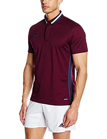adidas CL Adult's Leisure Polo Shirt, Men, Poloshirt Condivo 16 CL, Maroon/Mineral Blue, S