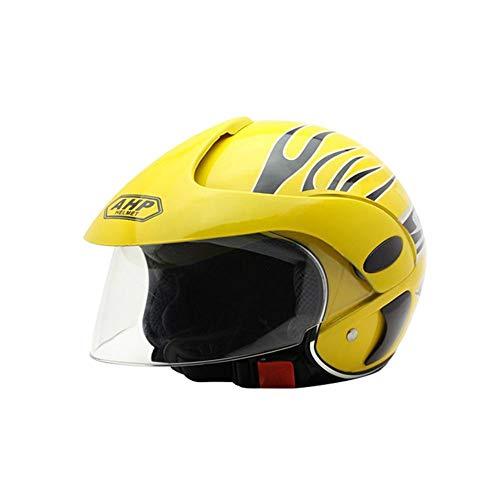 gaeruite Casco Moto Bambini, Unisex Half Harley Bike Helmets, 48-52cm