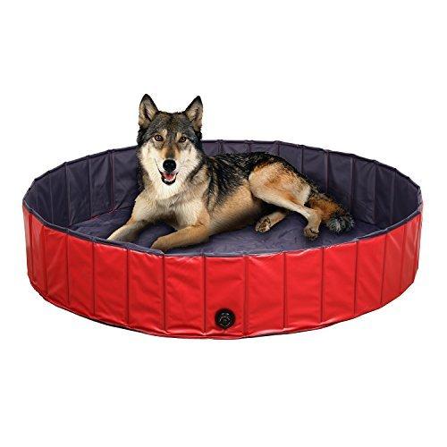 FEMOR Doggy Pool das Planschbecken Hundepool Swimmingpool für den Hun 3 Größe (120x30cm)
