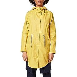 EDC Abrigo Impermeable Color Amarillo Tamaño Large Para Mujer