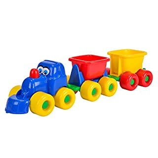 Androni Giocattoli 424 5651 - Lok mit 2 Anhängern, Länge 50 cm