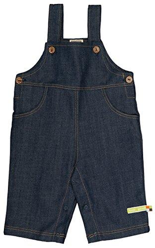 loud + proud Unisex Baby Latzhosen Jeanslatzhose, Gr. 68 (Herstellergröße: 62/68), Blau (Jeans je)