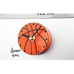 Reloj de Pared 3DCreative Sports Baloncesto Frigorífico Campana Magnetic Wall mute reloj (Succión Directa en el reloj del refrigerador)