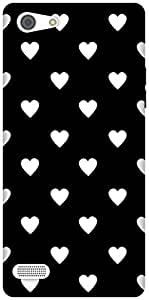 The Racoon Grip Ebony and Ivory Hearts hard plastic printed back case / cover for Oppo A33