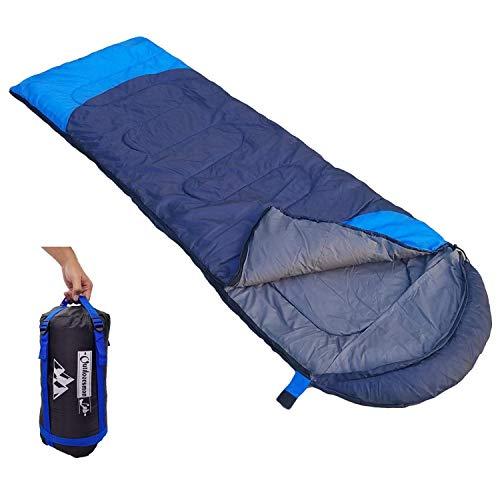 Saco de Dormir Térmico para Adultos para Acampar, Excursionismo, Viajes, Mochilero y Actividades al Aire Libre,Darkblue