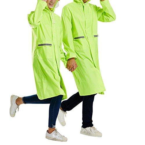 Preisvergleich Produktbild Maovii Damen Herren Paar Outdoor Funktions Langform Wasserdichte Parka Regenmantel Regenbekleidung Sport Jacke Mit Kapuze Tasche Atmungsaktiv (EU 42(Herstellergröße:XL), Grün)