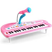 LVPY Piano Jouet, Clavier Electronique 37 Touches Piano Enfants Clavier  avec Microphone- Keyboard Piano ca06c5dcfaba