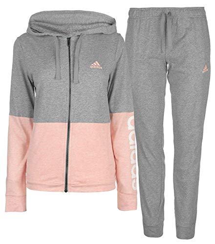 ADIDAS Damen WTS Core Marker Trainingsanzug, Medium Grey Heather/Haze Coral Mel/White, M