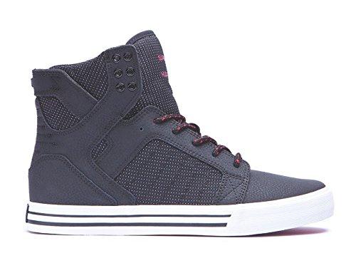 SupraSKYTOP - Sneaker alta Uomo , (Black / red - white), 7.5