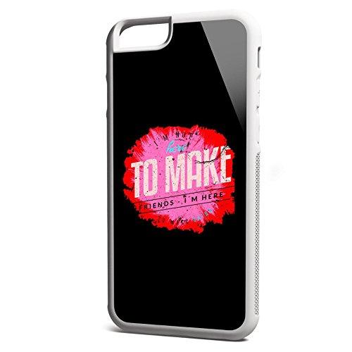 Smartcover Case I here to make Gains z.B. für Iphone 5 / 5S, Iphone 6 / 6S, Samsung S6 und S6 EDGE mit griffigem Gummirand und coolem Print, Smartphone Hülle:Samsung S6 EDGE weiss Iphone 6 / 6S weiss