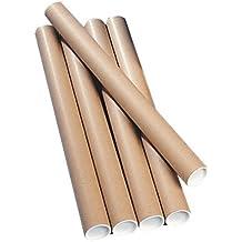 Ambassador Postal Tube Cardboard - Paquete de 12 tubos de cartón