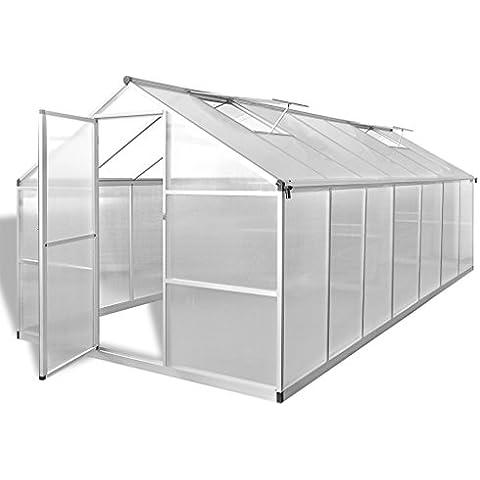vidaXL Serra in Alluminio Rinforzato con Struttura Base 10,525 mq
