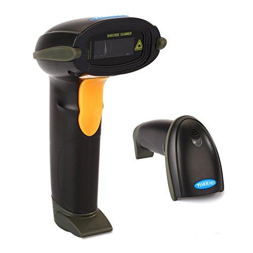 Barcode Scanner, Yokkao USB Barcodescanner Barcode Scanner Handscanner Handheld Lesegerät Schwarz Id Upc Ean Hight Speed