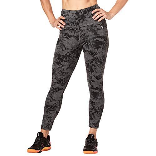 STRONG by Zumba 126 - Leggings da Donna a Vita Alta, Modellanti, con Compressione, Leggings, Z1B00683, Heather Grey, XL