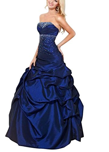 GEORGE BRIDE Koenigsblau Ballkleid Schatz bodenlangen Taft Pick Up Abendkleid ,Groesse 46, Blau (Ballkleid Pickup)