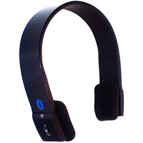 KOKKIA S10 (Luxurious Black) Auriculares estéreo Bluetooth con índice de transmisión mejorado (música y voz). Auriculares ideales con buenos bajos para disfrutar música MULTIFUENTE de iPod/iPhone/iPad desde el transmisor para iPod KOKKIA Tiny i10.