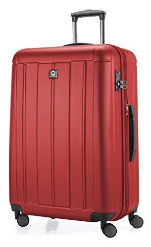 HAUPTSTADTKOFFER - Kotti - Valigia da viaggio rigida e leggera, grande 76 cm, Trolley ABS, TSA, 120 litri, Rosso