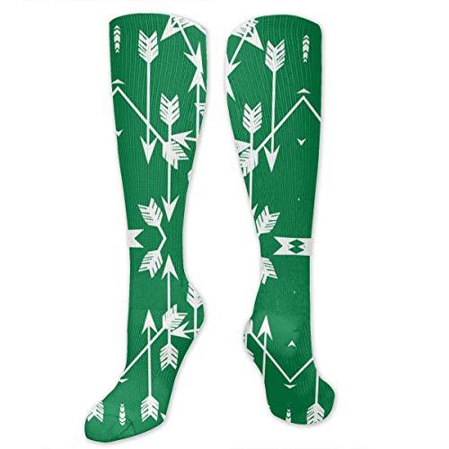 Frauen Arrow Green Kostüm - Gped Kniestrümpfe,Socken, Arrow Green Graduated Compression Socks for Men & Women Best Stockings for Nurses, Travel, Running, Maternity Pregnancy