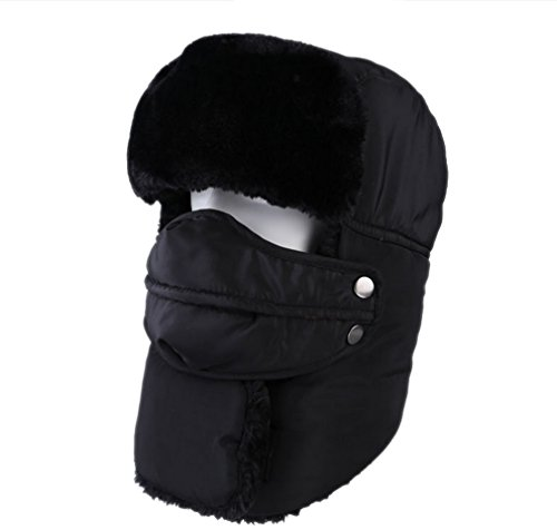 ACVIP Mens Womens Russian Style Warm Winter Bomber Trapper Cap Ski