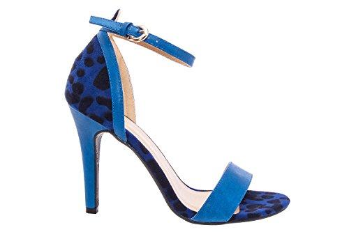 AM5037 - Andres Machado - Sandale Riemen Soft Limettengelb Soft Blau