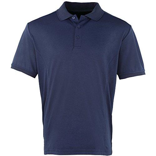 Premier Mens Coolchecker Pique Polo Shirt Navy*