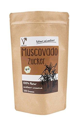 Bio Muscovado Vollrohrzucker | aromatisch • lecker • cremig | von Vollzucker (500g)