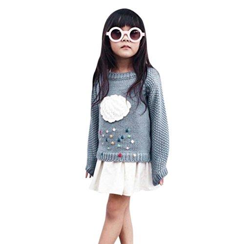 Janly Kleinkind Mädchen Kinder Baby Wolke Pullover Strick Pullover Warm Mantel Oberbekleidung Kleidung (4T)