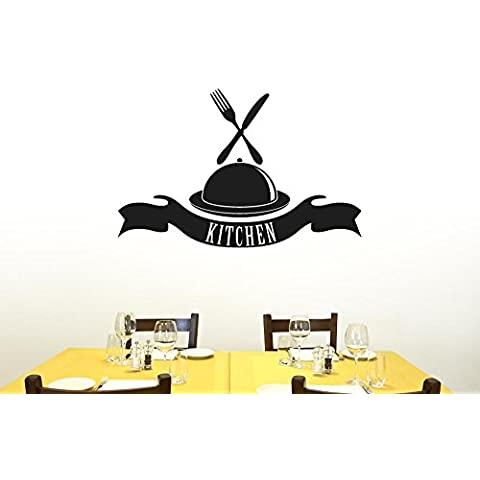 Kitchen Platter And Banner Vinile Adesivi Murali Decals - Grande