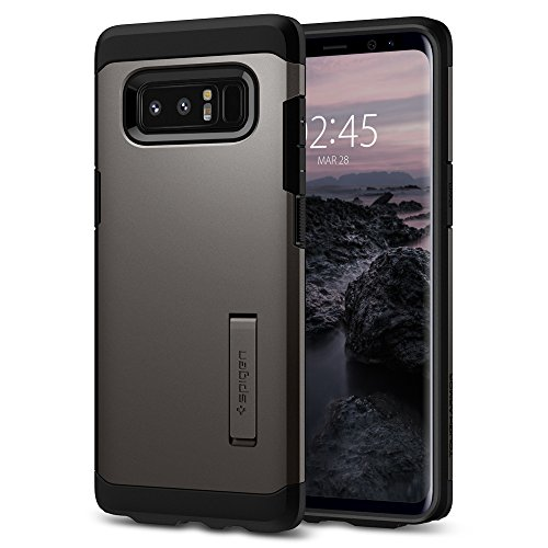 Spigen Coque Galaxy Note 8, Coque Note 8 [Tough Armor] Protezione US Military Grade [Gunmetal] Air Cushion Tecnologia di Assorbimento, Coque Compatible avec Samsung Note 8