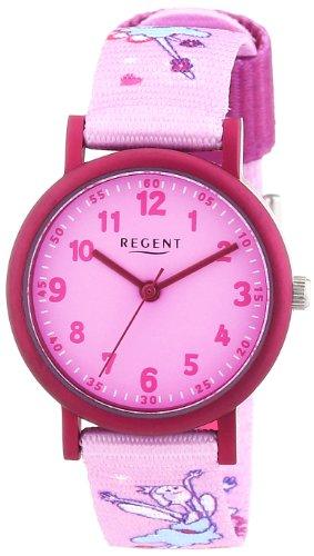 Regent - Reloj analógico unisex de tela rosa