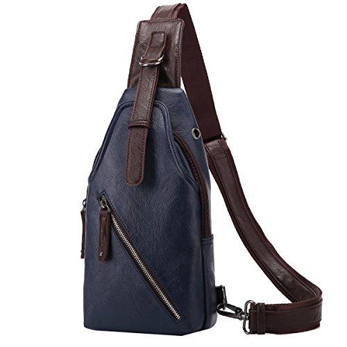 Yy.f Männer Schulter Umhängetasche Eine Kleine Brusttasche Männliche Koreanische Handtasche Rucksack Outdoor-Sport-und Freizeitreiten Männlich Brusttasche Multicolor A