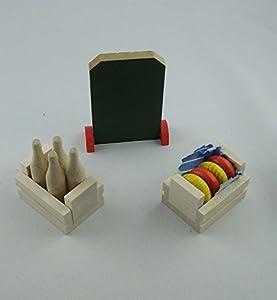 Rülke Holzspielzeug 21653 - Cajas de botellas para casa de muñecas