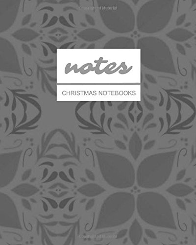 books: Grayscale Wrapping Paper  / Journal / Diary / Gift Idea / Ruled Notebook - Stationery / (Holiday Designs) (8