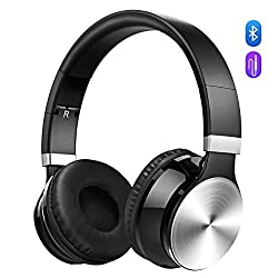 Bluetooth Headphones, Victsing Wireless Foldable Over-ear Hi-fi Stereo Headset With Noise Cancelling Microphone, Supports Hands-free Calling & Wired Mode For Pccell Phonestv - Silver