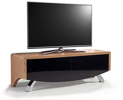 MDA Designs Wave 1200 hybride Beamthru Meuble Remote-friendly 81,3 - 152,4 cm téléviseur à écran plat Cabinet chêne