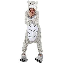 Win8Fong Kigurumi Costume de Halloween/Cosplay, para adulto, Unisex, pijamas/mono para fiestas, 2 unidades, diseño de animales Totoro Medium