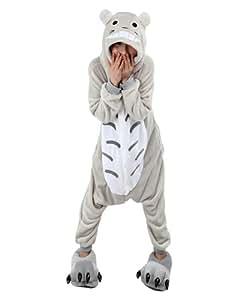 "Super9COS My Neighbor Totoro Kigurumi Pajamas Adult Anime Cosplay Halloween Costume ,size M (64""-68"")"