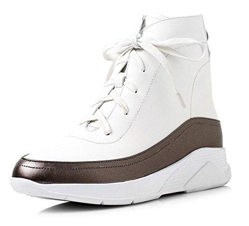 Baixos Esportivos Branca Ocasional Calçados Com Dar Sapatos Aluno Femininos Calçados Feminino Toe Caixa qFEw6xf