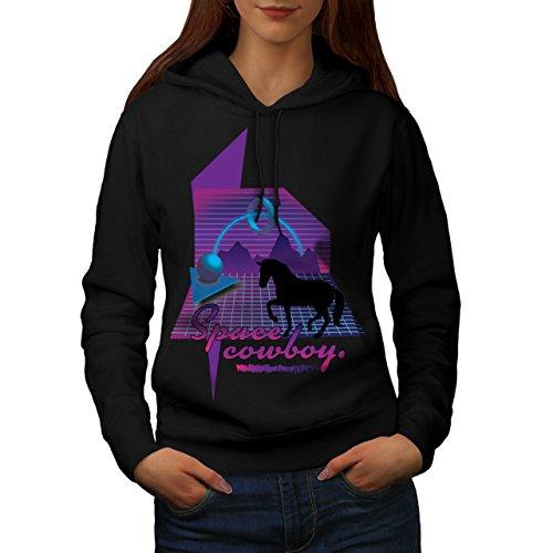Horse Space Joke Fashion Women M Kapuzenpullover | (Kostüme Space Weibliche)