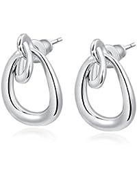 Carina Retro 18K White Gold Plated Designer Diamond Swarovski Crystal Earring Jewellery For Women Girls