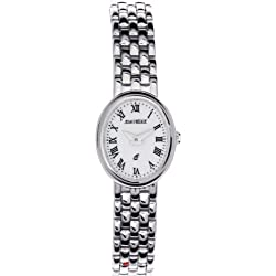 Ladies Sterling Silver Oval Presentation Watch on Matching Bracelet