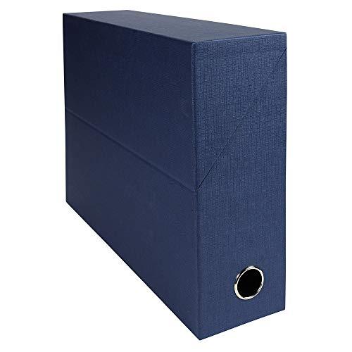 Exacompta 89527e scatola trasferimento toilée 9cm blu scuro